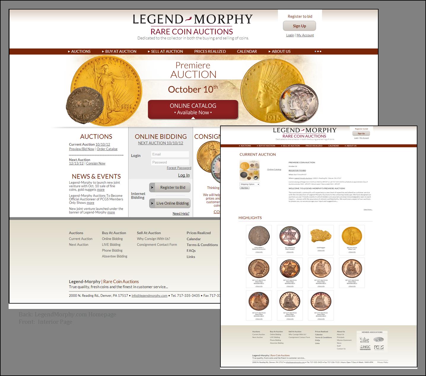 Legend-Morphy Rare Coins Auction Company Website