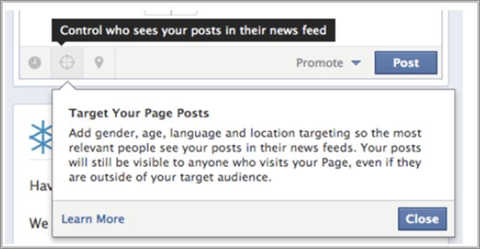 Facebook Marketing Post Targeting