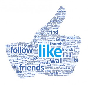 Facebook Like Thumbs Up Wordle