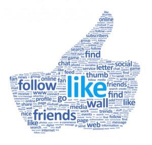 Facebook Like Thumbs Up Wordle