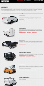 The updated responsive Reading Truck Body product page
