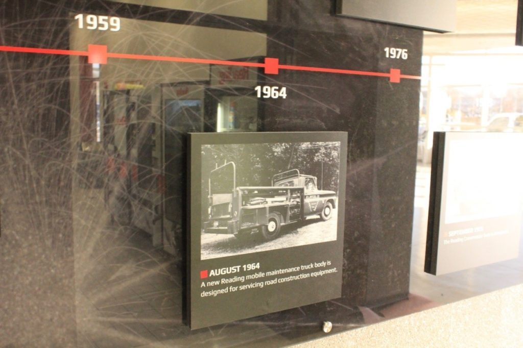 Reading Truck Body visual timeline closeup