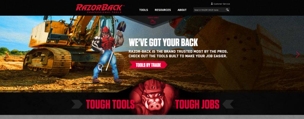 Razor-Back Homepage by Synapse Marketing