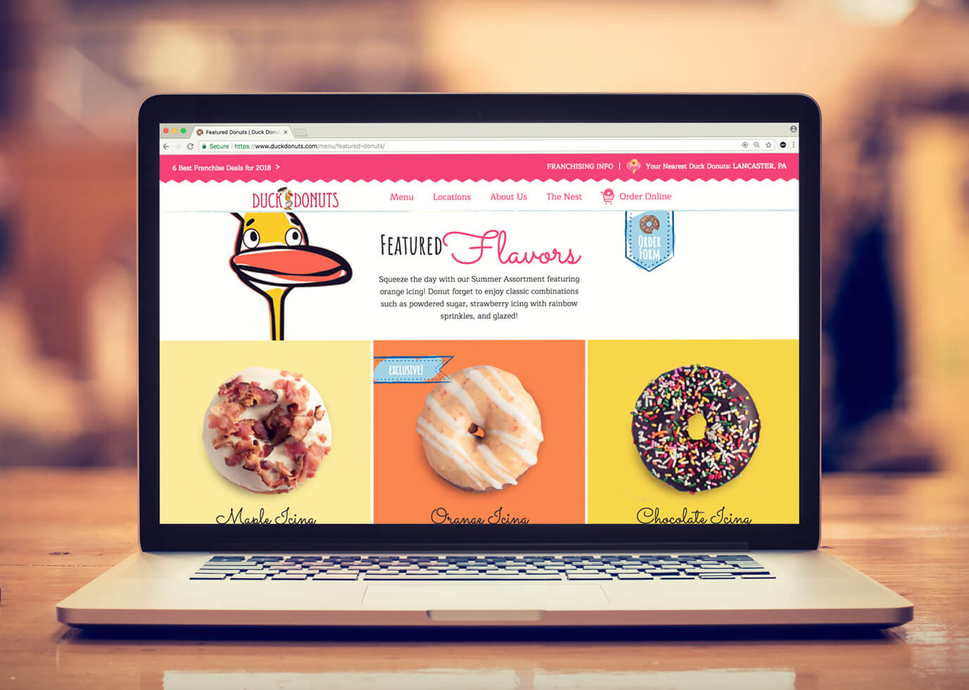 Synapse Website Strategy for Client Duck Donuts