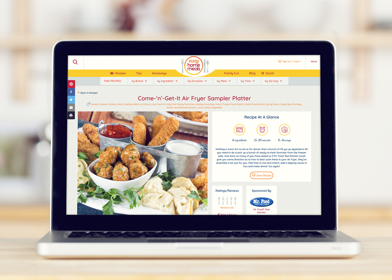Synapse Website Build for Client Easy Home Meals