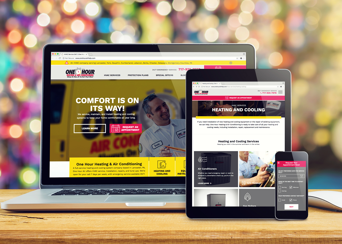 Synapse Website Strategy for Franchise Client One Hour Heating & Air Conditioning