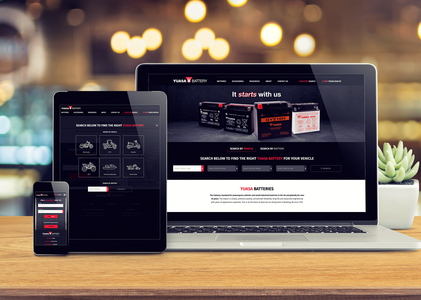 Synapse Website Strategy for Client Yuasa Battery