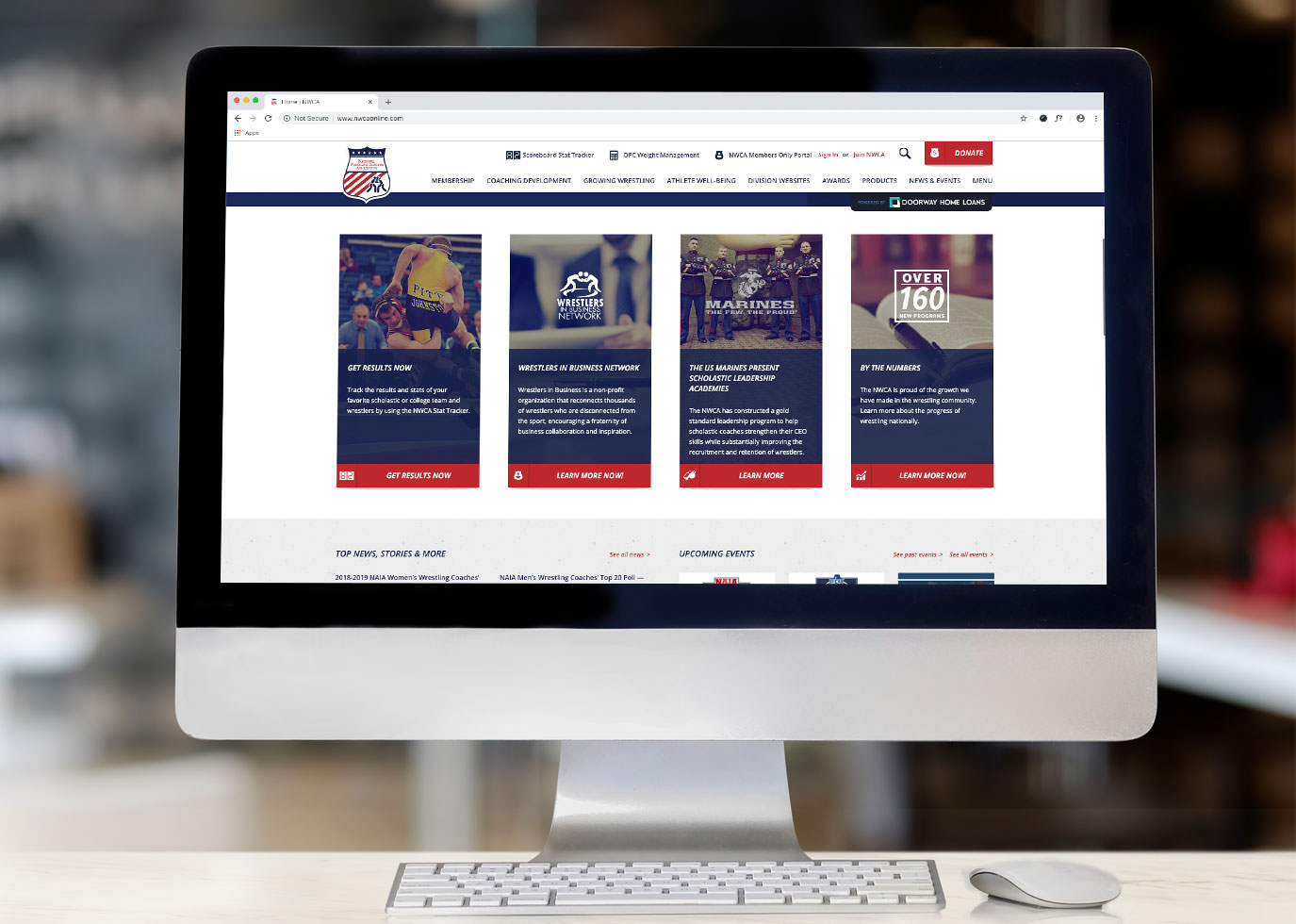 National Wrestling Coaches site by Synapse