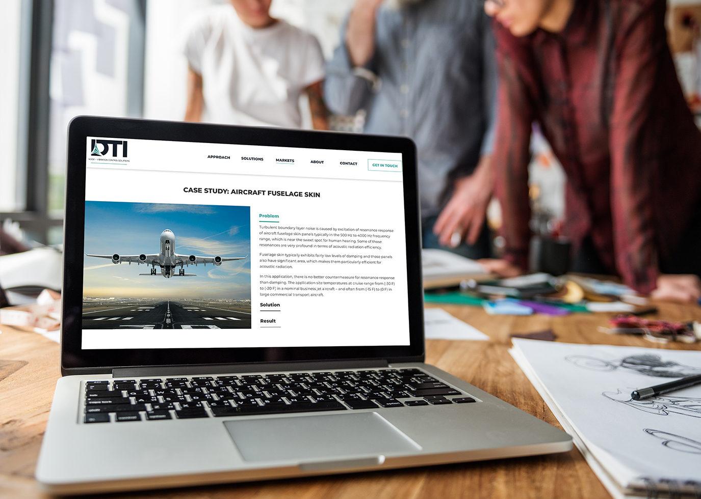 DTI Site on laptop