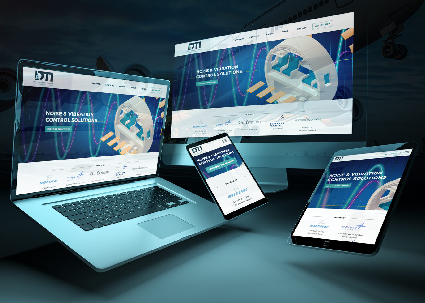 DTI Website on devices