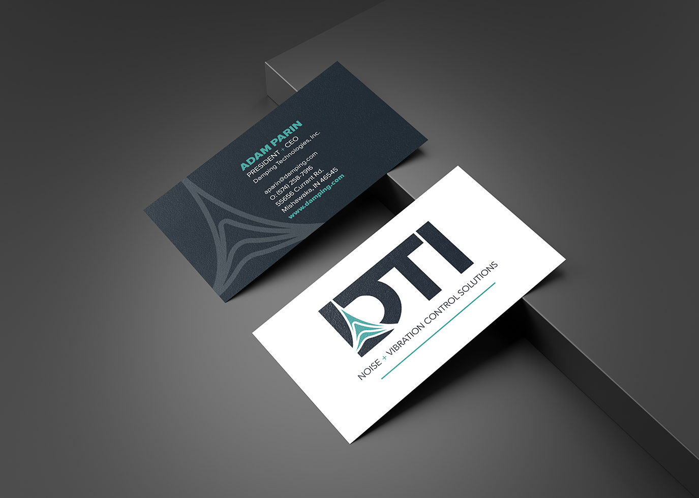 DTI business card front and back