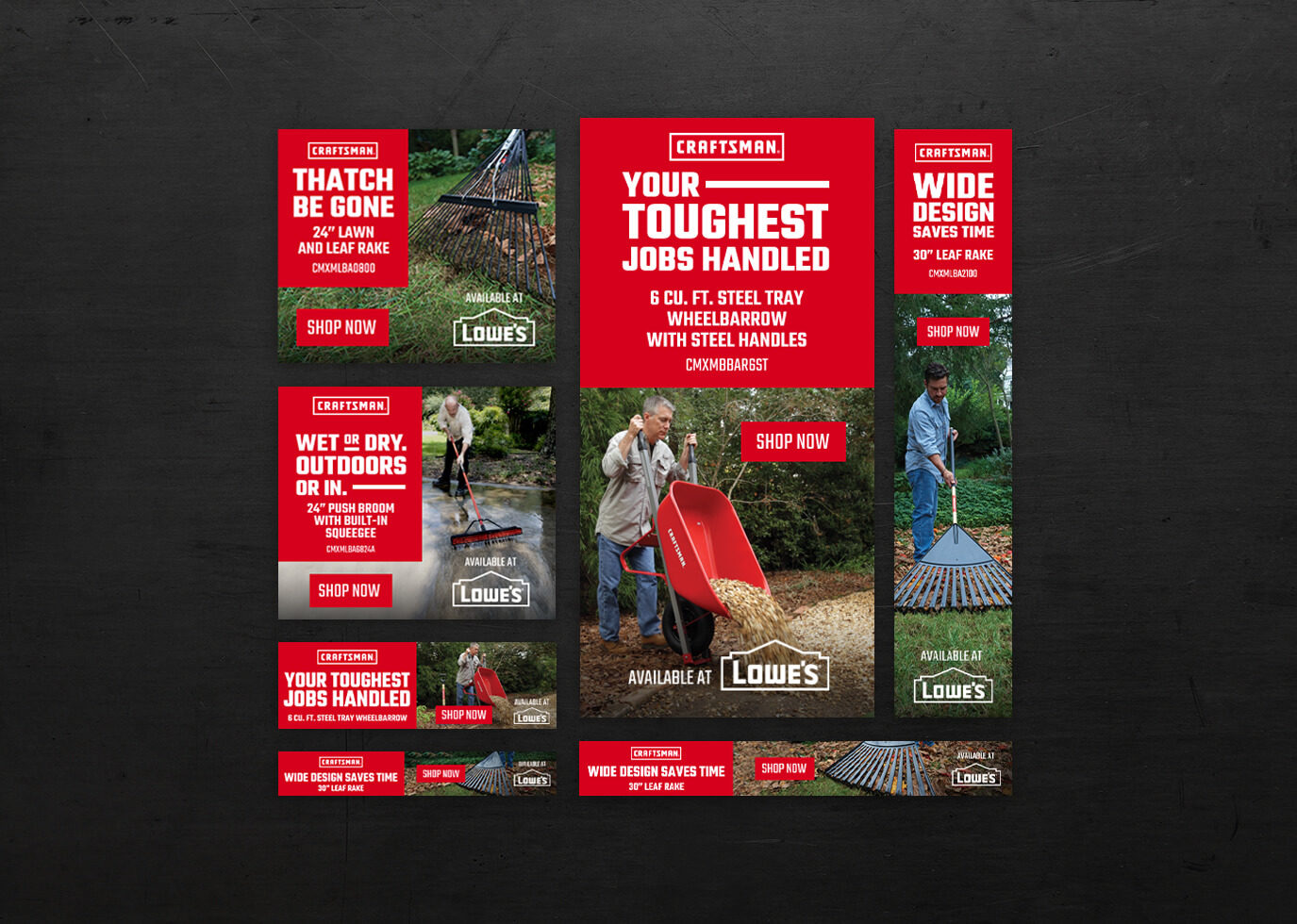 Lowes Campaign craftsman ads